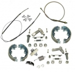 E17455 CABLE KIT-PARKING BRAKE-STAINLESS STEEL CABLES-WITH STAINLESS STEEL SHOES-67-82