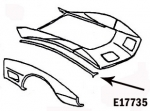 E17735 BONDING STRIP-SIDE FENDER TO HOOD SURROUND-RIGHT-80-82