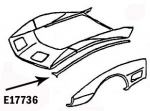 E17736 BONDING STRIP-SIDE FENDER TO HOOD SURROUND-LEFT-80-82