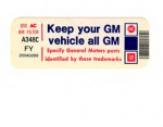 DECAL - KEEP YOUR CAR ALL GM - 81