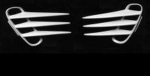 E18105 INSERT-FENDER GILL-SIDE LOUVERS-UNPAINTED-PAIR-97-04