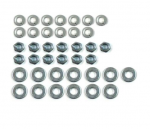 E18415 NUT AND WASHER SET-GRILLE-OVAL-MOLDING-39 PIECES-53-57