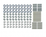 E18425 STUD KIT-GRILLE-MOLDING-120 PIECES-WITH WASHERS AND NUTS-58-62