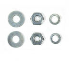 E18561 ATTACHING KIT-DEFROSTER-OUTLET ESCUTCHEON-NUT AND WASHERS-6 PIECES-53-62