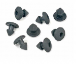 E18575 FASTENER KIT-FIREWALL TO CARPET-RUBBER-8 PIECES-63-67
