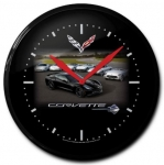 E18816 CLOCK-BATTERY OPERATED-14-CARS AND EMBLEMS-C7