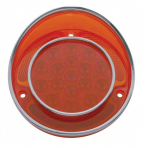E19575 LENS-TAIL LIGHT-LED-RED-WITH STAINLESS STEEL RIM-EACH-68-73