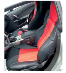 E19632 COVER-SEAT-NEOPRENE-BLACK/RED-05-11
