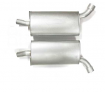 E19773 MUFFLER-ALUMINIZED-LOUD-2.5 INCH-PAIR-73
