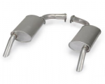 MUFFLER - STAINLESS STEEL - OFF ROAD - HIDEAWAY - 2 INCH - 3 CHAMBER - PAIR - 73