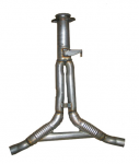 E19823 PIPE-EXHAUST-REAR-Y PIPE-ALUMINIZED-2.25 INCH-WITH BALANCE TUBE-86-90