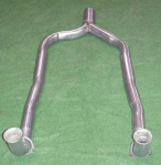 E19829 PIPE-EXHAUST-FRONT-Y PIPE-ALUMINIZED-EXCEPT ZR1-86-91