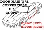 E19967 WEATHERSTRIP-DOOR MAIN-COUPE OR CONVERTIBLE-USA-LEFT-97-04