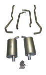E19990 EXHAUST SYSTEM-ALUMINIZED-2 INCH-SMALL BLOCK-AUTOMATIC-73