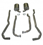 E19993 EXHAUST SYSTEM-ALUMINIZED-2 TO 2.5 INCH-SMALL BLOCK-MANUAL-73