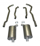 E20005 EXHAUST SYSTEM-ALUMINIZED-2.5 INCH-BIG BLOCK-454-MANUAL-73