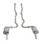 E19996 EXHAUST SYSTEM-ALUMINIZED-2 INCH-SMALL BLOCK-AUTOMATIC-74-79