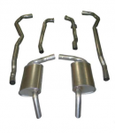 E20001 EXHAUST SYSTEM-ALUMINIZED-2.5 INCH-BIG BLOCK-454-AUTOMATIC-HIDEAWAY MUFFLER-74