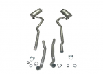 E20012 EXHAUST SYSTEM-ALUMINIZED-2.5 INCH-BIG BLOCK-427-AUTOMATIC-68