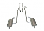 E20009 EXHAUST SYSTEM-ALUMINIZED-2.5 INCH-SMALL BLOCK-MANUAL-64-65