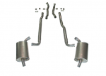 E20010 EXHAUST SYSTEM-ALUMINIZED-2.5 INCH-BIG BLOCK-427-AUTOMATIC-66-67