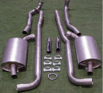 E20011 EXHAUST SYSTEM-ALUMINIZED-2.5 INCH-BIG BLOCK-396/427-MANUAL-65-67