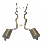 E20016 EXHAUST SYSTEM-ALUMINIZED-2 INCH-SMALL BLOCK-MANUAL-WELDED MUFFLER-63