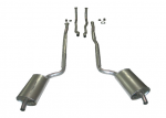 E20019 EXHAUST SYSTEM-ALUMINIZED-2 INCH-SMALL BLOCK-MANUAL & AUTO-WELDED MUFFLER-64-67