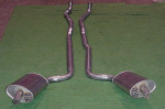 E20020 EXHAUST SYSTEM-ALUMINIZED-2.5 INCH-BIG BLOCK-MANUAL-396/427-WELDED MUFFLER-65-67