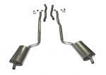 E20023 EXHAUST SYSTEM-ALUMINIZED-2.5 INCH-BIG BLOCK-427-AUTOMATIC-WELDED MUFFLER-66-67