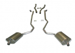 E20024 EXHAUST SYSTEM-ALUMINIZED-2.5 INCH-BIG BLOCK-427-AUTOMATIC-WELDED MUFFLER-68