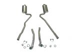 E20025 EXHAUST SYSTEM-ALUMINIZED-2.5 INCH-BIG BLOCK-427-MANUAL-WELDED MUFFLER-68