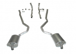 E20035 EXHAUST SYSTEM-ALUMINIZED-2 INCH-SMALL BLOCK-AUTOMATIC-WELDED MUFFLER-68-72
