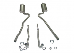 E20036 EXHAUST SYSTEM-ALUMINIZED-2 INCH-SMALL BLOCK-MANUAL-WELDED MUFFLER-68-72