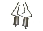 E20037 EXHAUST SYSTEM-ALUMINIZED-2 INCH-SMALL BLOCK-AUTOMATIC-WELDED MUFFLER-73