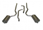 E20040 EXHAUST SYSTEM-ALUMINIZED-2 TO 2.5 INCH-SMALL BLOCK-MANUAL-WELDED MUFFLER-73