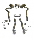 EXHAUST SYSTEM - DELUXE - 2 TO 2.5 INCH - SMALL BLOCK - AUTOMATIC - 70 - 72
