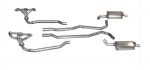 E20342 EXHAUST SYSTEM-ALUMINIZED-AUTOMATIC-HEADERS AND MAGNAFLOW MUFFLERS-68-72