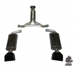 E20351 EXHAUST SYSTEM-ALUMINIZED-CAT BACK-MAGNAFLOW MUFFLERS-LT1 TIPS-84-85