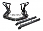 E20507 EXHAUST SYSTEM-SIDE-DOUG'S HEADERS-BLACK-SMALL BLOCK-4 INCH SIDE TUBES-63-82