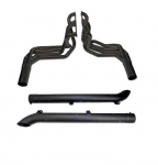 E20512 EXHAUST SYSTEM-SIDE-DOUG'S HEADERS-BLACK-BIG BLOCK-4 INCH SIDE TUBES-65-74