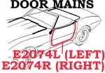 E2074R WEATHERSTRIP-DOOR MAIN-CONVERTIBLE-USA-RIGHT-69-75