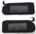 E20977 SUNVISOR-REPRODUCTION-INCLUDES SEAT BELT WARNING DECAL-USA-PAIR-97-04