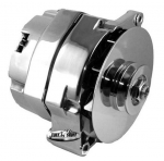 E21138 ALTERNATOR-CHROME-100 AMP-WITH TURBO FAN-63-68