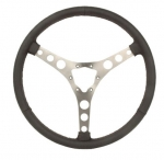 E21155 WHEEL-STEERING-15 INCH LEATHER WRAPPED-INCLUDES RIVETS -56-62