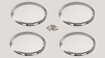 E21486 TRIM RINGS-TAIL LIGHTS-POLISHED STAINLESS STEEL-4 PIECES-97-04