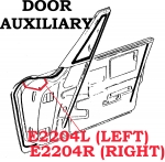 E2204L WEATHERSTRIP-DOOR AUXILIARY-USA-LEFT-64-67