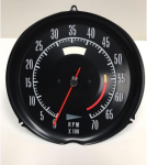 E22501 (CHANGE) TACHOMETER ASSEMBLY-ALL-ELECRONIC-5600 RPM-NEW 72-74