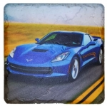 E22866 7TH GENERATION CORVETTE STONE  TILE COASTER-53-19