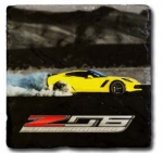E22867 7TH GENERATION CORVETTE STONE  TILE COASTER-53-19